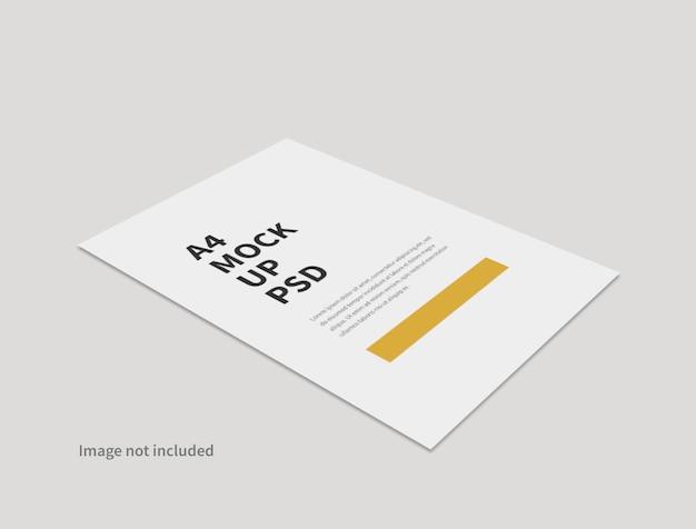 Realistische papieren minimale mockup geïsoleerd
