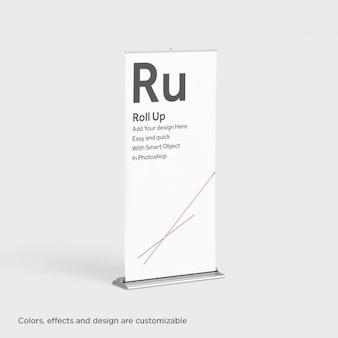 Realistische roll up presentatie