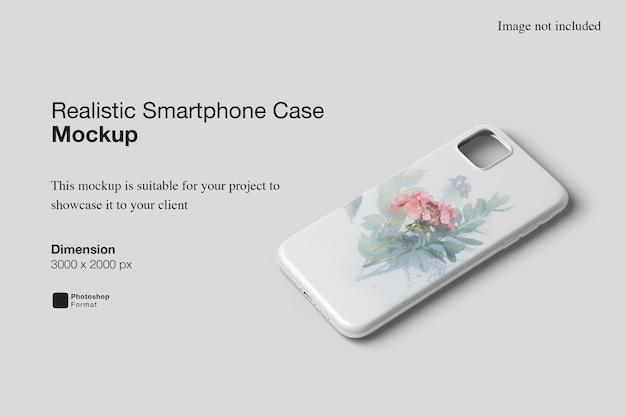 Realistische smartphone-hoesmodel