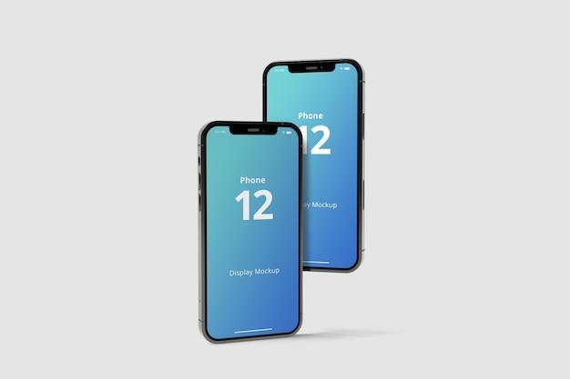 Realistische smartphone mockup geïsoleerd