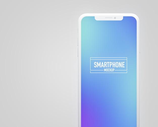 Realistische smartphone mockup. schoon smartphonemodel