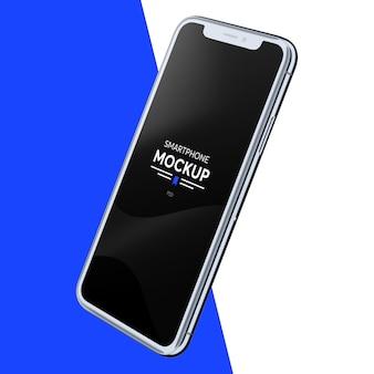 Realistische smartphone-model