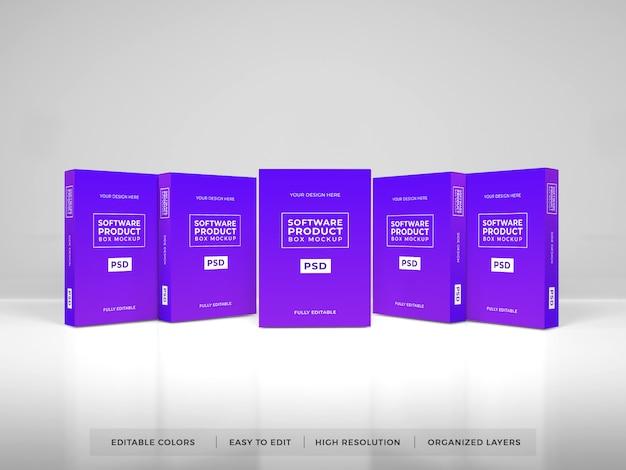 Realistische softwarebox-productmodel