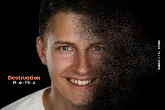 Realistische spreidingsfoto-effectsjabloon
