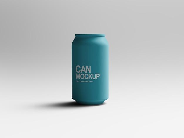 Realistische staande drank kan mockup