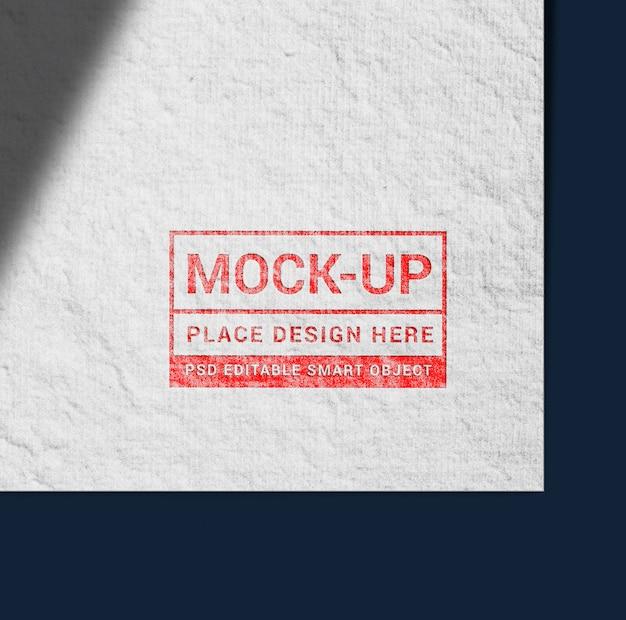 Realistische stempelstijl logo mockup