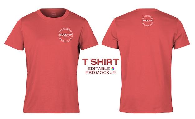 Realistische t-shirt mockup sjabloon voor uw ontwerp.