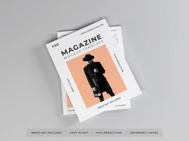 Realistische tijdschrift mockup sjabloon