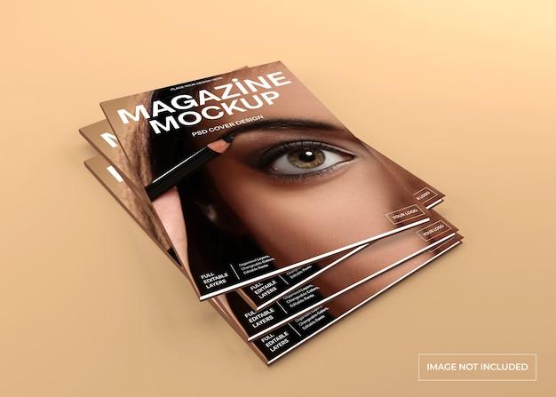 Realistische tijdschriftdekking mockup geïsoleerd