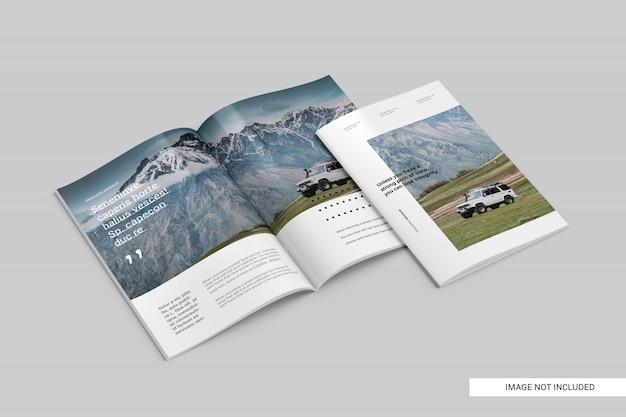 Realistische tijdschriftsjabloon Premium Psd