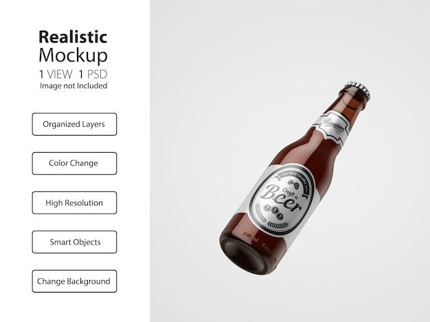 Realistische verpakking van bierfles