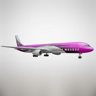 Realistische vliegtuig presentatie