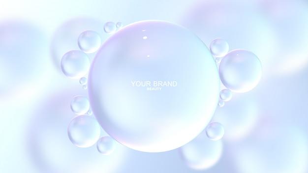 Realistische waterbellen