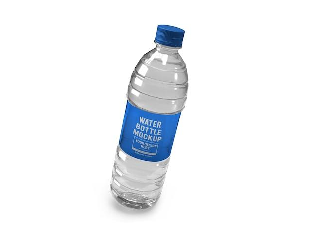 Realistische waterfles mockup-sjabloon geïsoleerd
