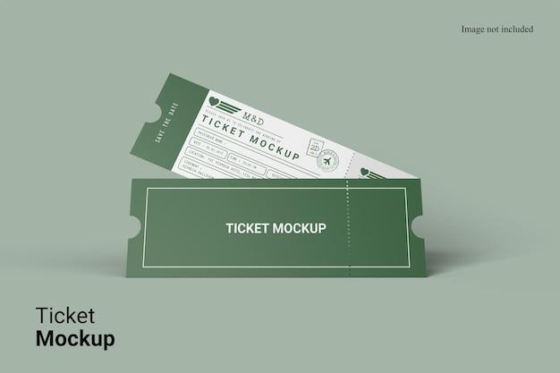 Realistische weergave ticket mockup design geïsoleerd