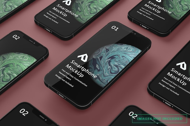 Realistische weergave van smartphone-mockup