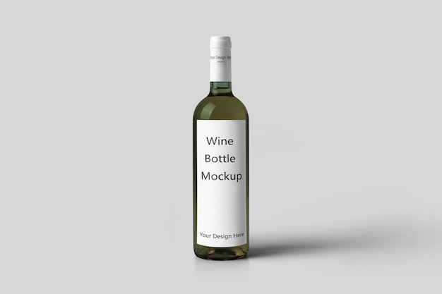 Realistische wijnfles mockup geïsoleerd