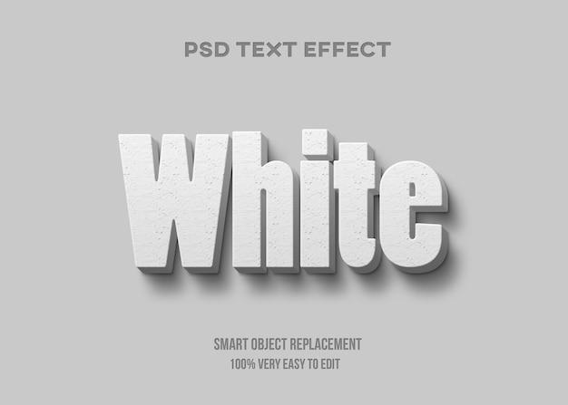 Realistische witte teksteffect sjabloon