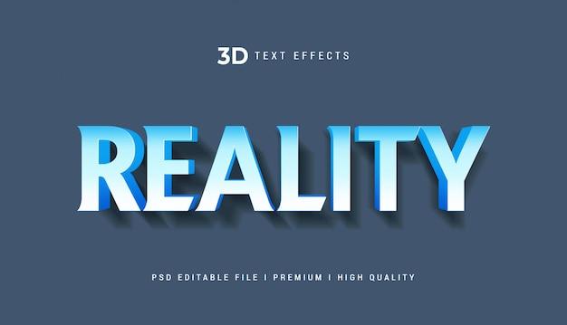 Reality 3d-tekststijleffect mockup