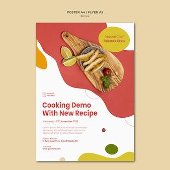 Recepten advertentie poster sjabloon