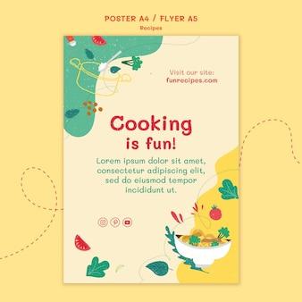 Recepten website poster sjabloon