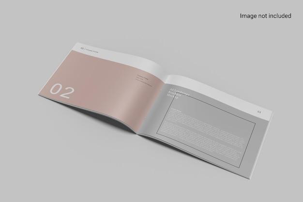 Rechte weergave landschap brochure mockup ontwerp