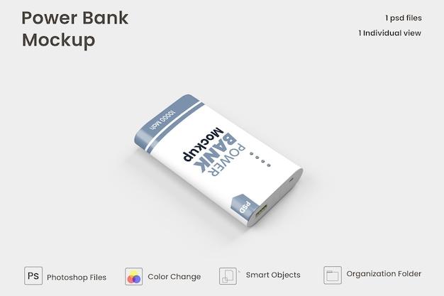 Rechthoekig powerbankmodel premium psd