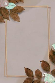 Rechthoekige kleurrijke bloemen frame patroon mockup