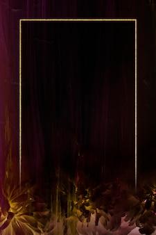 Rechthoekkader op abstracte illustratie als achtergrond