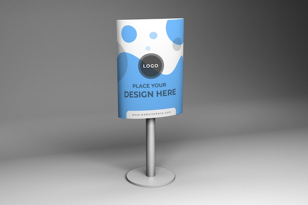 Reclame stand mockup