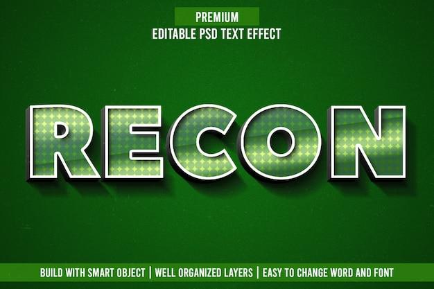 Recon teksteffect