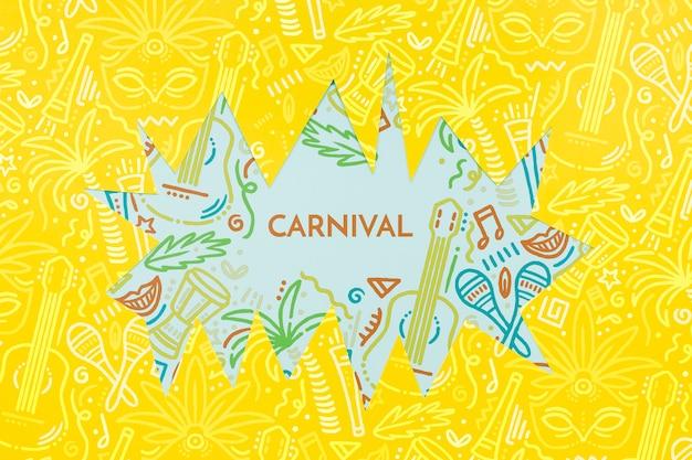 Recorte de carnaval brasileño