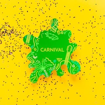 Recorte de carnaval con confeti