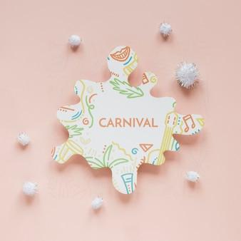 Recorte de carnaval con pompones