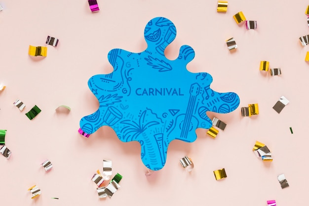 Recorte colorido carnaval brasileño