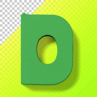 Recorte las letras del alfabeto de plástico de juguete para niños aislado sobre fondo transparente.