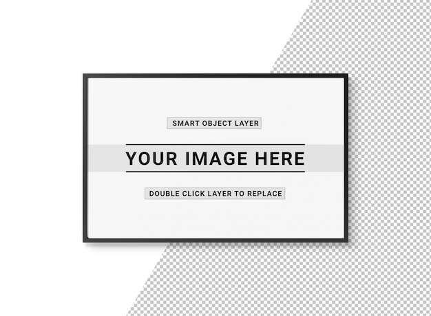 Recorte el marco rectangular negro sobre la maqueta blanca