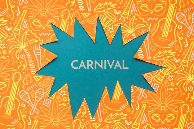 Recorte de papel de carnaval brasileño