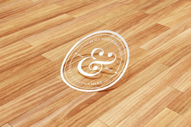 Recorte pegatina y maqueta de logotipo