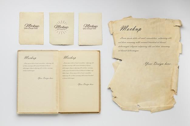 Recursos de colección de papelería vintage