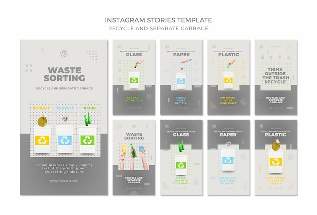 Recycle concept instagramverhalen