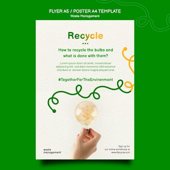 Recycle concept poster sjabloon