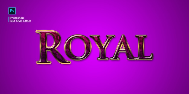 Red royal text effect