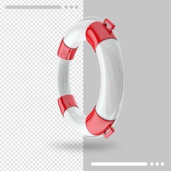 Reddingsboei 3d-rendering geïsoleerd
