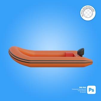 Reddingsboot zijaanzicht 3d-object
