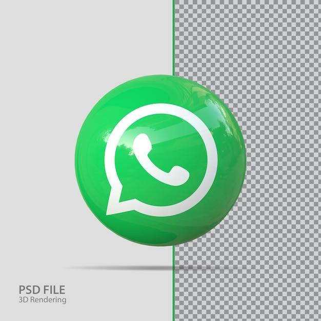 Redes sociales whats ap 3d render