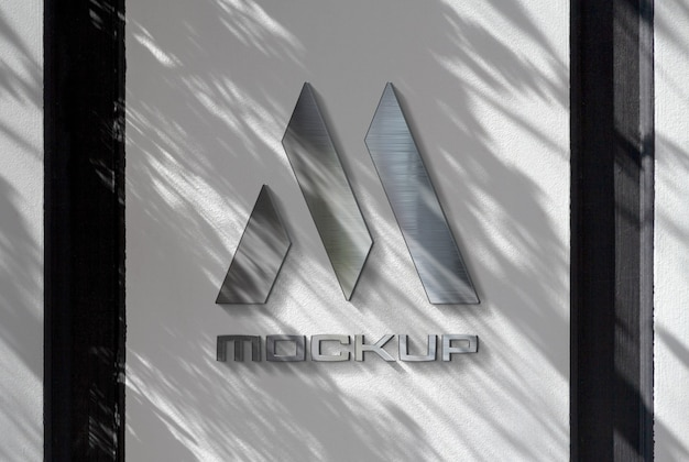 Reflecterend logo op muurmodel