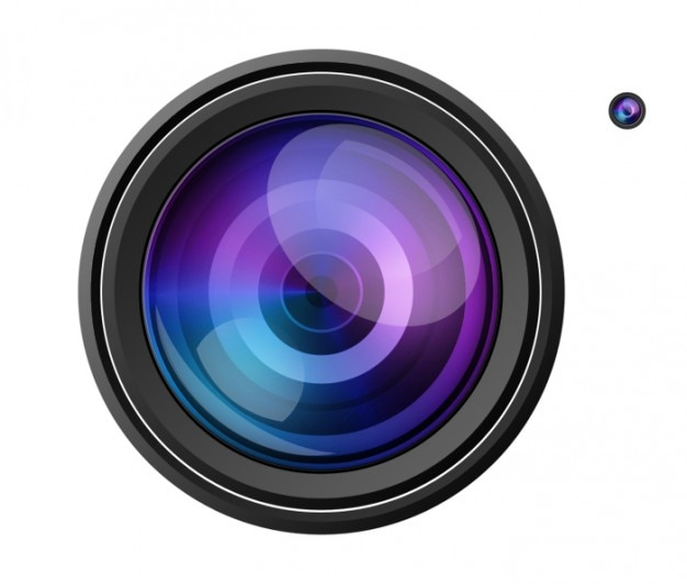 Reflecterende videocamera nadruk psd
