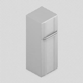 Refrigerador isométrico render 3d