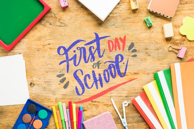 Regeling met benodigdheden voor de eerste schooldag